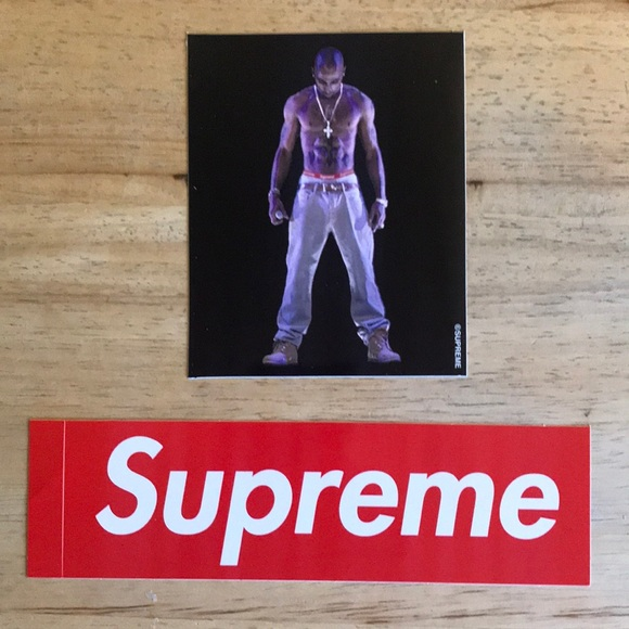 Supreme 2 pac sticker